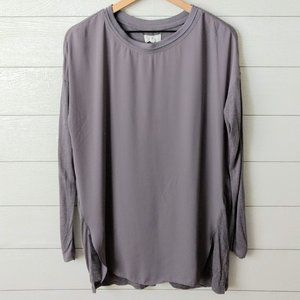 Lou & Grey Mixed Material Tunic Blouse L
